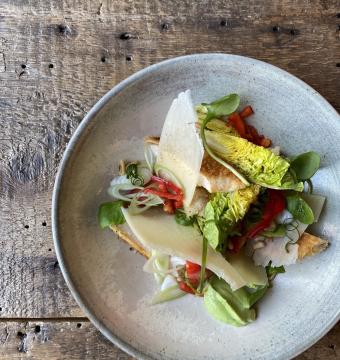 Salade krokante kip