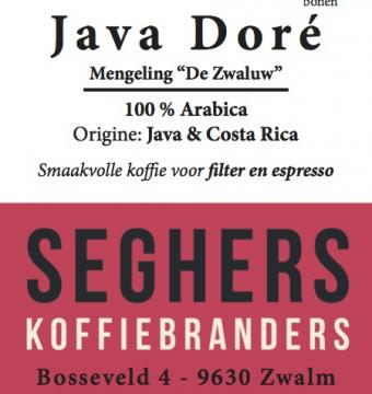 Java Doré - Seghers koffie - gemalen